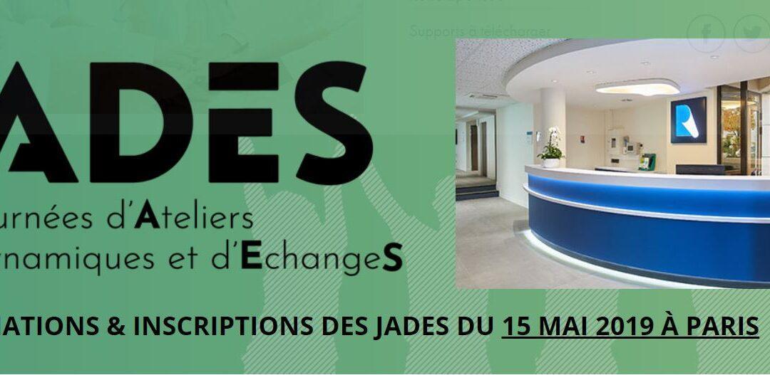 15 mai Journée de formation «  les Jades à l'Institut Rafaël »