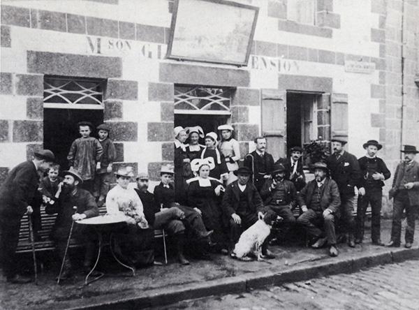 L'auberge Gloanec en 1886
