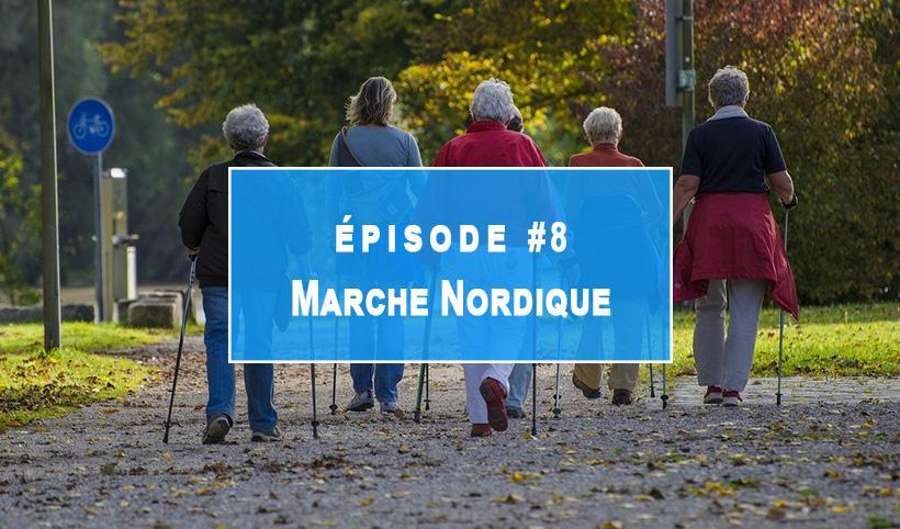 Marche nordique patients soignants à l'institut Rafaël