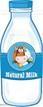 Bouteille du lait bio